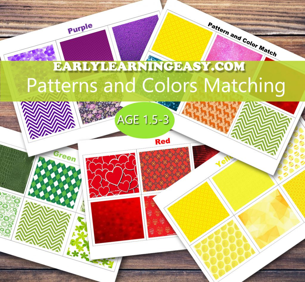 colored patterns, learning colors