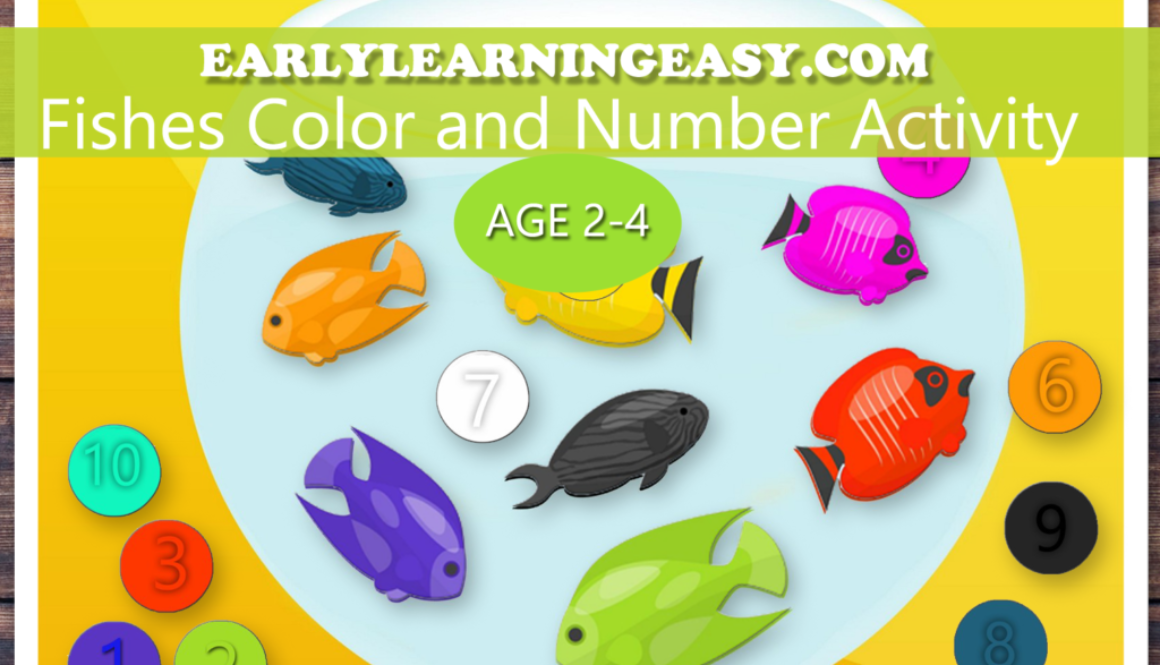 Free Fish tank Color & Number Activity