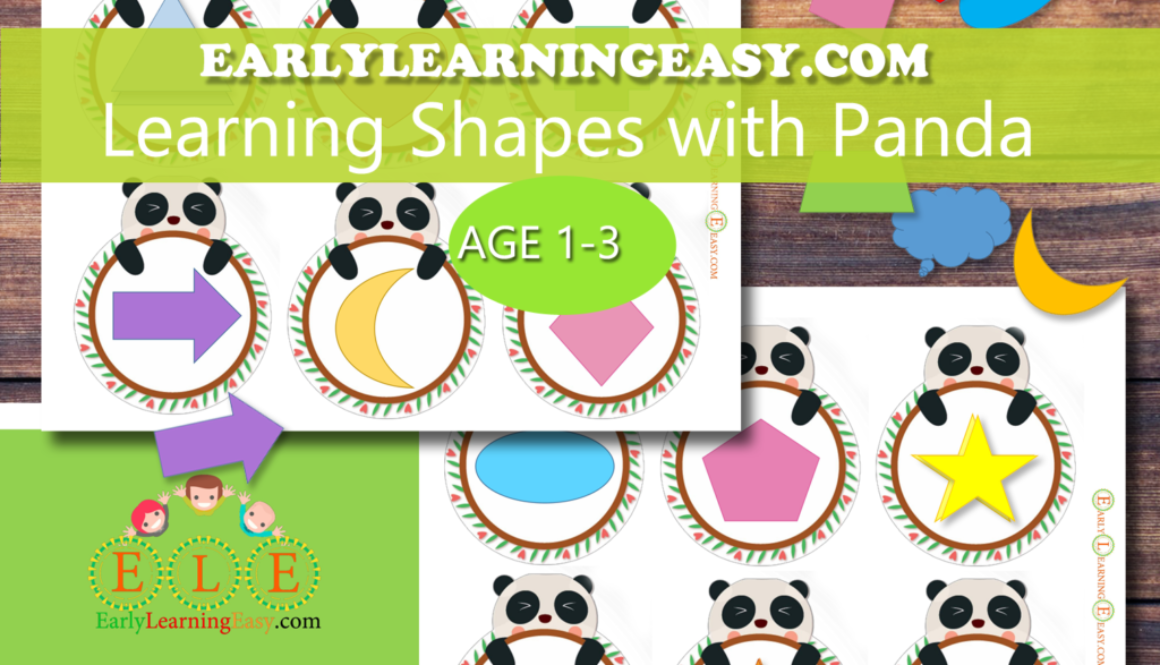 Learning shapes with Panda for 1-3 years olds