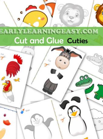 Cut and Glue Cuties